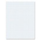 20lb Quadrille Pad w/4 Squares/Inch, Ltr, White, 1 50-Sheet Pad TOP22000
