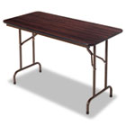 Wood Folding Table, Rectangular, 48w x 24d x 29h, Walnut ALEFT724824WA