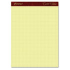 Gold Fibre Canary Quadrille Pad, 8-1/2 x 11-3/4, Canary, 50 Sheets TOP22143