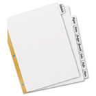 Big Tab Write-On Dividers w/Erasable Laminated Tabs, White, Set of 8 AVE23078