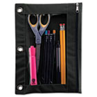 Binder Pencil Pouch, 10 x 7 3/8, Black/Clear AVT67024