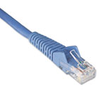 N201-001-BL 1ft Cat6 Gigabit Snagless Molded Patch Cable RJ45 M/M Blue, 1' TRPN201001BL
