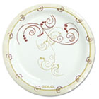 "Symphony Paper Dinnerware, Mediumweight Plate, 6"", Tan, 125/Pack SLOMP6J8001PK"