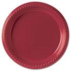 "Plastic Plates, 9"", Red, 25/Pack SLOPS95R0099PK"