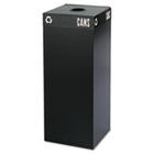 Public Square Recycling Container, Square, Steel, 37gal, Black SAF2983BL