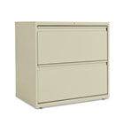 Two-Drawer Lateral File Cabinet, 30w x 19-1/4d x 28-3/8h, Putty ALELF3029PY