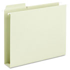 Box Bottom Hanging Folders, Built-In Tabs, Letter, Moss Green SMD64201