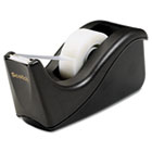 "Value Desktop Tape Dispenser, 1"" Core, Two-Tone Black MMMC60BK"