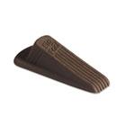 Big Foot Doorstop, No-Slip Rubber Wedge, 2-1/4w x 4-3/4d x 1-1/4h, Brown, 2/Pack MAS00971