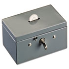 Small Cash Box with Coin Slot, Disc Lock, Gray MMF221533001