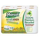 Small Steps 100% Recycled Double Roll Bathroom Tissue, 12 Rolls/Pack MRC6112