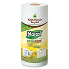 Small Steps 100% Recycled Roll Towels, 9 x 11, 60 Sheets, 15 Rolls/Carton MRC6709
