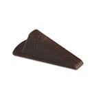 Giant Foot Doorstop, No-Slip Rubber Wedge, 3-1/2w x 6-3/4d x 2h, Brown, 2/Pack MAS00969