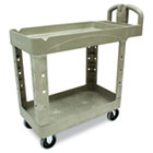 Heavy-Duty Utility Cart, Two-Shelf, 17-1/8w x 38-1/2d x 38-7/8h, Beige RCP450088BG