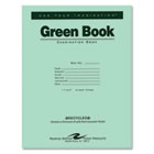 Green Books Exam Books, Stapled, Wide Rule,11 x 8 1/2, 8 Sheets/16 Pages ROA77509