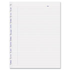 MiracleBind Ruled Paper Refill Sheets, 11 x 9-1/16, White, 50 Sheets/Pack REDAFR11050R