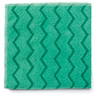 Rubbermaid Commercial Reusable Cleaning Cloths, Microfiber, 16 x 16, Green, 12/Carton RCPQ620