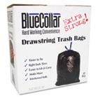 Drawstring Trash Bags, 20-30gal, 1mil, 30 x 34, Black, 40/Box HERN6034YKRC1