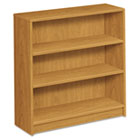 1870 Series Bookcase, Three-Shelf, 36w x 11-1/2d x 36-1/8h, Harvest HON1872C