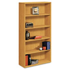 10500 Series Laminate Bookcase, Five-Shelf, 36w x 13-1/8d x 71h, Harvest HON105535CC