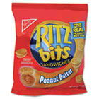 Ritz Bits, Peanut Butter, 1.5oz Packs, 60/Carton RTZ06833