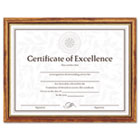 Two-Tone Document/Diploma Frame, Wood, 8-1/2 x 11, Maple w/Gold Leaf Trim DAXN17981MT