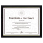 Two-Tone Document/Diploma Frame, Wood, 8-1/2 x 11, Black w/Gold Leaf Trim DAXN17981BT
