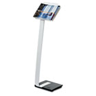Literature Stand, Acrylic Tray/Cast Iron Base, Clear/Aluminum/Black DBL486323