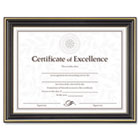 Gold-Trimmed Document Frame w/Certificate, Wood, 8-1/2 x 11, Black DAXN2709N6T