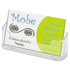 Horizontal Business Card Holder, 3 3/4w x 1 7/8h x 1 1/2d, Clear DEF70101