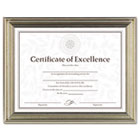 Antique Colored Document Frame w/Certificate, Metal, 8-1/2 x 11, Silver DAXN1818N2T