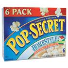 Microwave Popcorn, Homestyle, 3.5oz Bags, 6/Box DFD24696