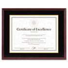 Hardwood Document/Certificate Frame w/Mat, 11 x 14, Mahogany DAX1511TM