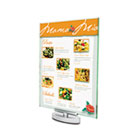 Superior Image Swivel Sign Holder, Green Tint, 8 1/2 x 11, Silver DEF691590
