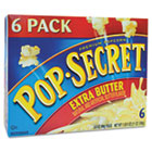 Microwave Popcorn, Extra Butter, 3.5oz Bags, 6/Box DFD16686