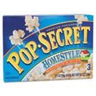 Microwave Popcorn, Homestyle, 3.5oz Bags, 3/Box DFD24680