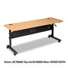 Flipper Training Table Base, Flipping L-Leg, 72w x 24d x 29-1/2h, Black BLT89864