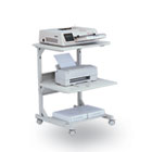 Dual Laser Printer Stand, 3-Shelf, 24w x 24d x 33h, Gray BLT23701