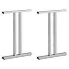 Leg Kit-Freestanding Dog Leg Desk Momentum: Silver BSH342TLEGSV03