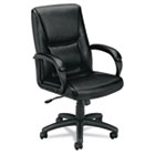 VL161 Series Executive Mid-Back Chair, Black Leather BSXVL161SB11