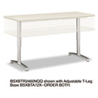 Rectangular Training Table Top Without Grommets, 60w x 24d, Light Gray BSXBTR2460NQQ