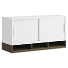 "Momentum Collection 36"" Hutch w/Doors, White/Mocha Cherry BSH34H36MR"