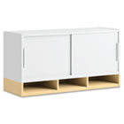 Momentum Collection Hutch with Doors, 36w x 13d x 18-5/8h, Accord Maple/White BSH34H36AC