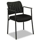 VL516 Series Stacking Guest Arm Chair, Mesh Back, Padded Mesh Seat, Black BSXVL516MM10