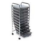 Portable Drawer Organizer, 15-1/4w x 13d x 37-5/8h, Smoke/Chrome AVT34007
