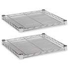 Industrial Wire Shelving Extra Wire Shelves, 18w x 18d, Silver, 2 Shelves/Carton ALESW581818SR