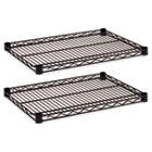 Industrial Wire Shelving Extra Wire Shelves, 24w x 18d, Black, 2 Shelves/Carton ALESW582418BL