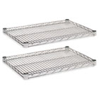 Industrial Wire Shelving Extra Wire Shelves, 24w x 18d, Silver, 2 Shelves/Carton ALESW582418SR