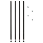 """Stackable Posts For Wire Shelving, 36 """"High, Black, 4/Pack ALESW59PO36BL"""