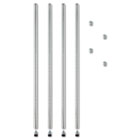 "Stackable Posts For Wire Shelving, 36"" High, Silver, 4/Pack ALESW59PO36SR"